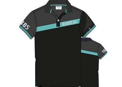 Bianchi polo tričko - celeste pásik