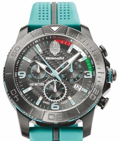 Bianchi Watch with chronograph (43 mm)