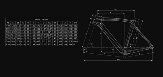 Bianchi Oltre XR4 CV Disc Frame Kit
