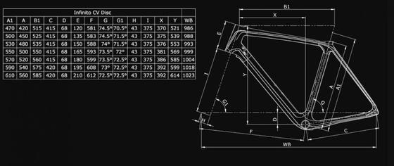 Bianchi Infinito CV Disc Frame Kit