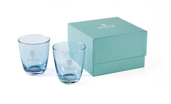 Bianchi Café & Cycles water glasses