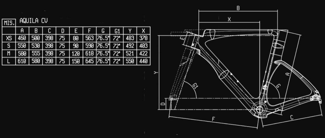 Bianchi Aquila CV Frame Kit