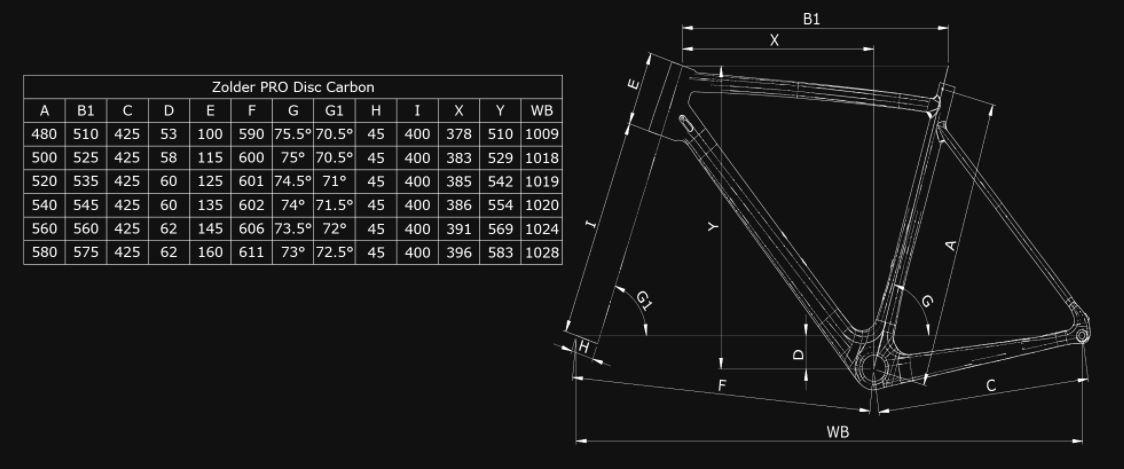 Bianchi Zolder Pro Frame Kit